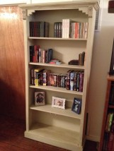 "Country Bookcase in Annie Sloan Chalk Paint ""Country Grey"" and dark wax"