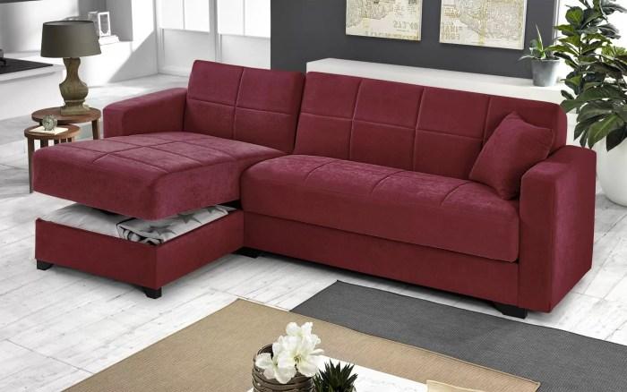 divano con penisola contenitore