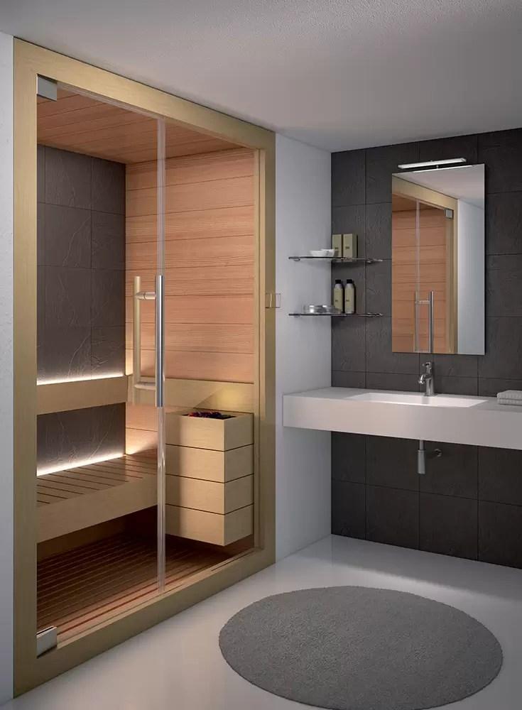 sauna n'ime ime ụlọ ịwụ