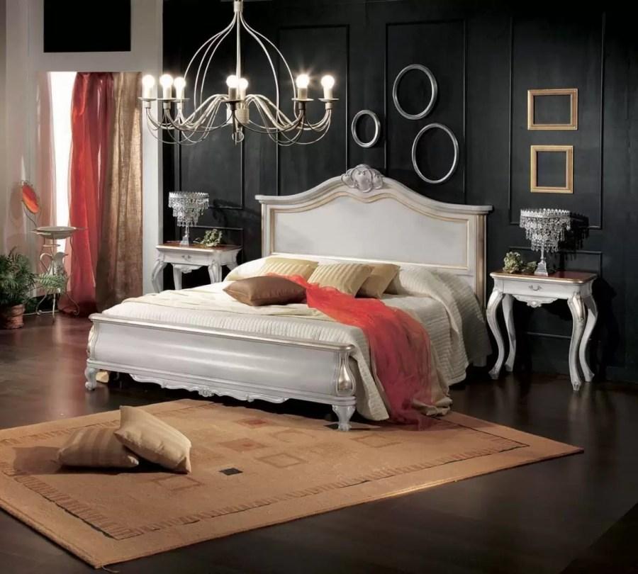 letto bianco camera classica