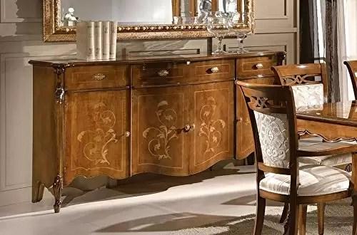 Composizione sala da pranzo e soggiorno, colore legno ...