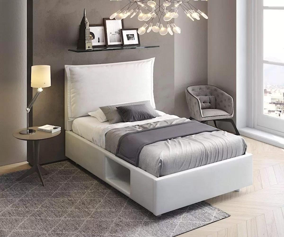 """Cucce Design Per Cani letto """"bau-bed"""" una piazza e mezza, con vano contenitore imbottito e con  cuccia per cane incorporata, rivestimento in similpelle, testiera  imbottita,"""