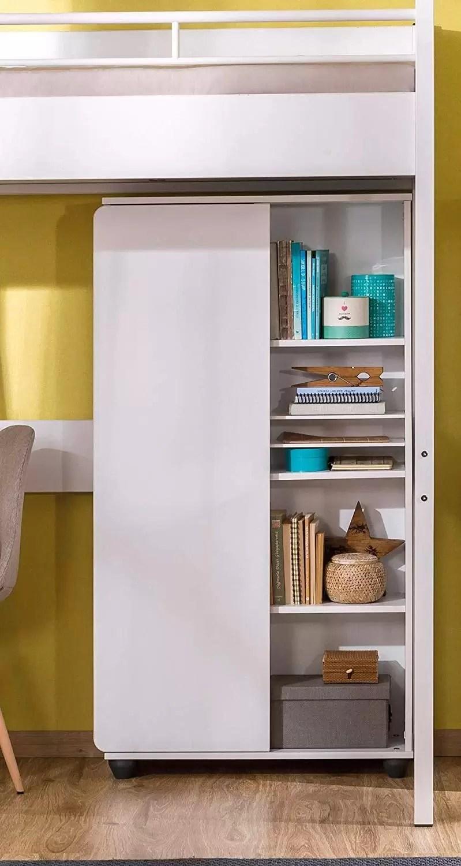 Libreria Design Camera Da Letto libreria per cameretta da bambino o ragazzo - si abbina ad una camera da  letto moderna - libreria con anta e ripiani - dimensioni: 76 cm h 140 cm 29