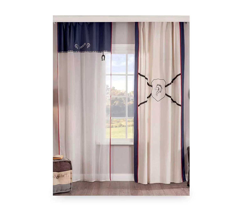 Tende X Camera Da Letto tende per cameretta per ragazzo o bambino - adatta ad una camera da letto  per ragazzo - tenda a due cadute trasparente con decorazioni eleganti in