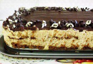 עוגת ביסקויטים עם קרם לוטוס