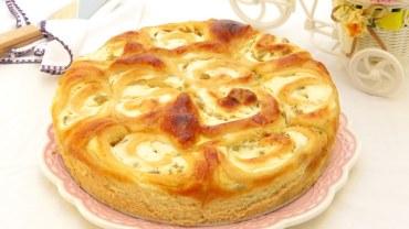 עוגת שושני בריוש במלית גבינה וצימוקים