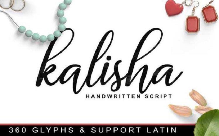Kalisha Script Font