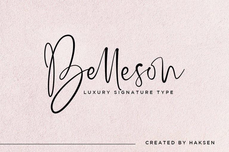 belleson-luxury-script-font-768x512