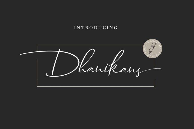 dhanikans-signature-font-768x512