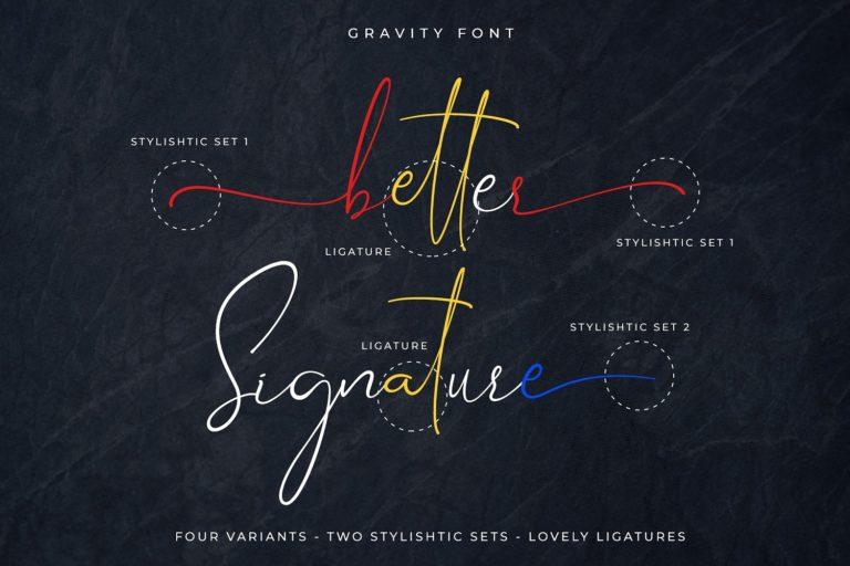gravity-signature-font-2-768x512