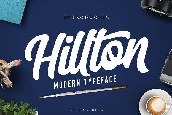hilton-script-font