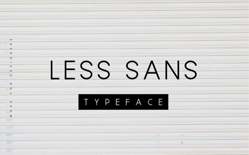 less-sans-minimal-typeface