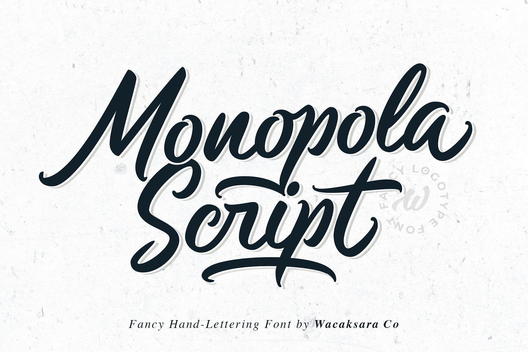 monopola-script-font