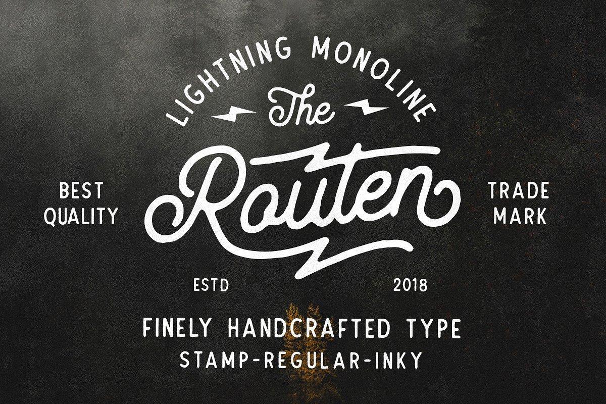 routen-lightning-monoline-font