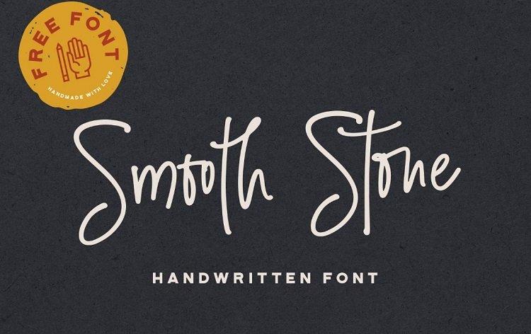 smooth-stone-free-handwritten-font