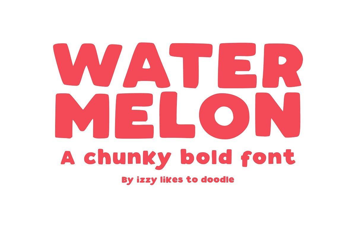 watermelon-bold-font