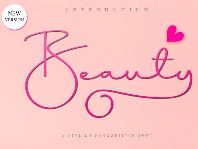 Beauty Script Font Free