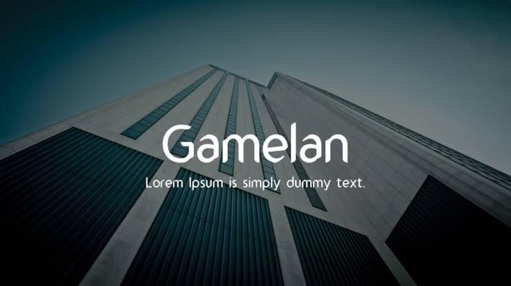 Gamelan Typeface Free