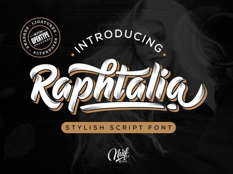 Raphtalia-Script-Font