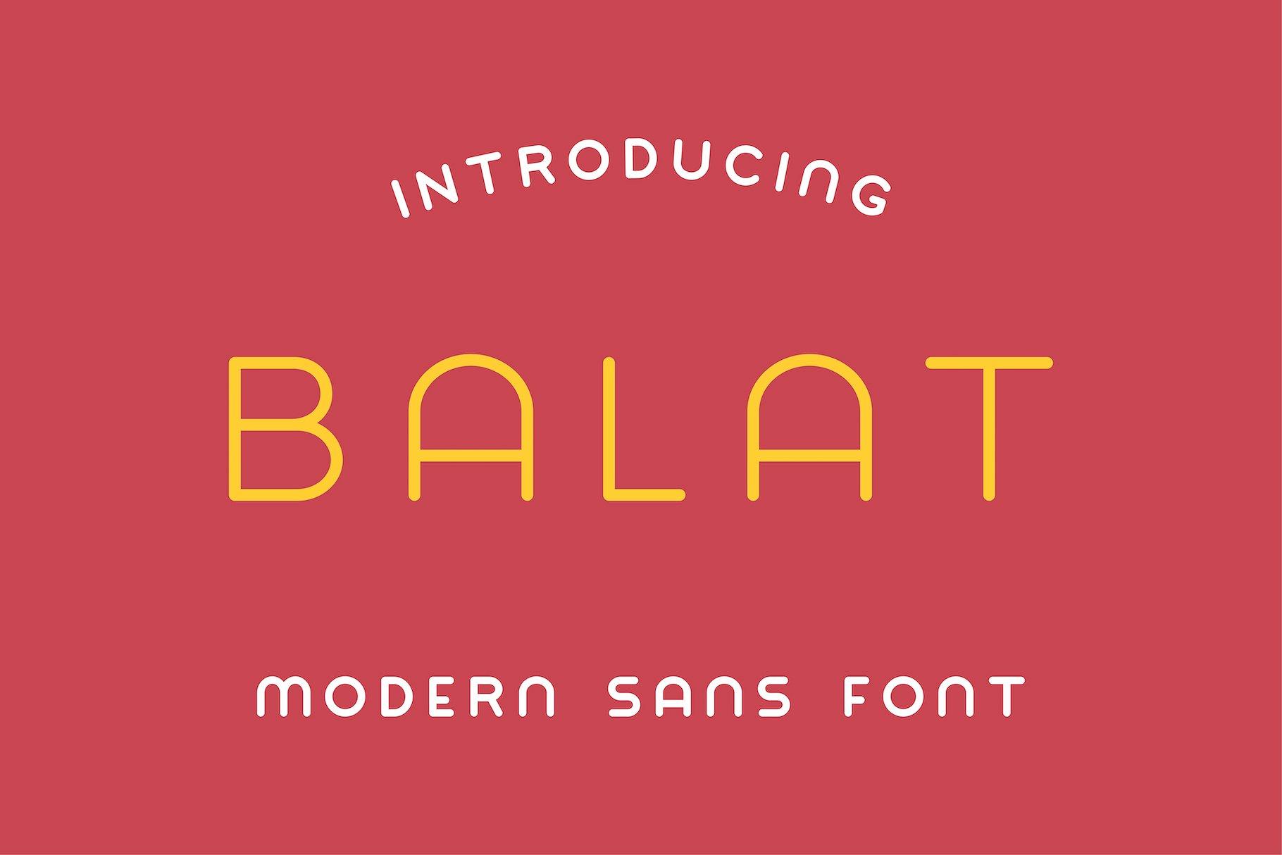 balat-modern-sans-font