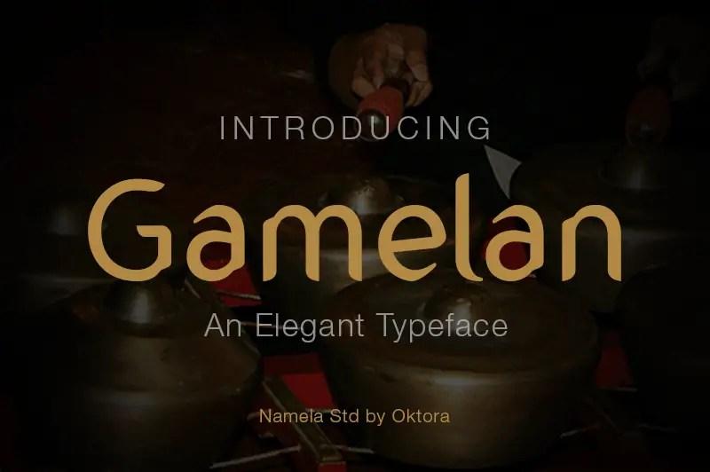 gamelan-typeface
