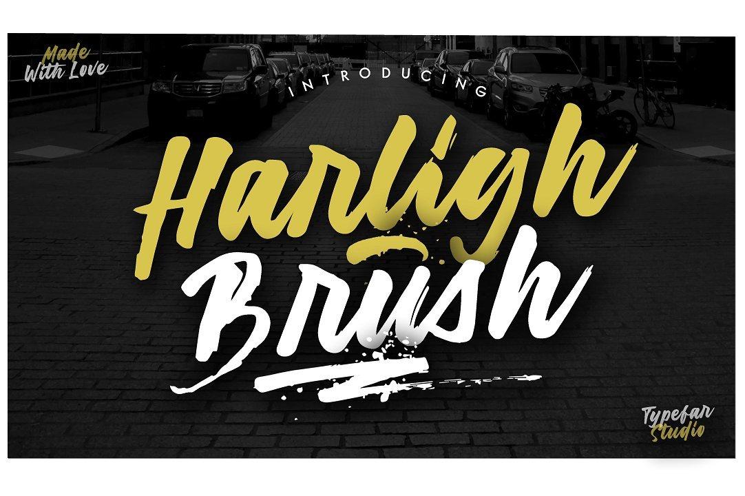 harligh-brush-font