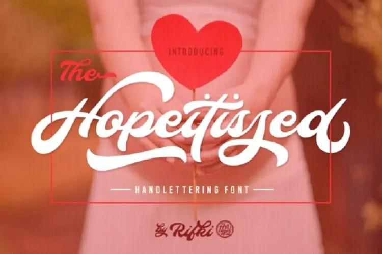 hopeitissed-script-font