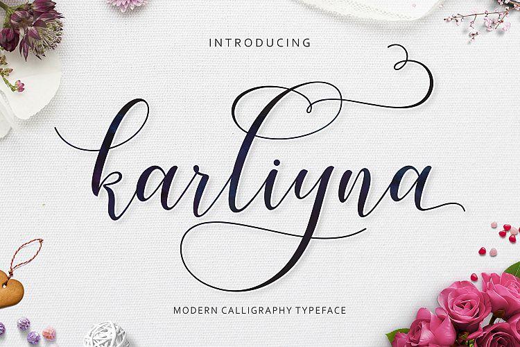 karliyna-script-font