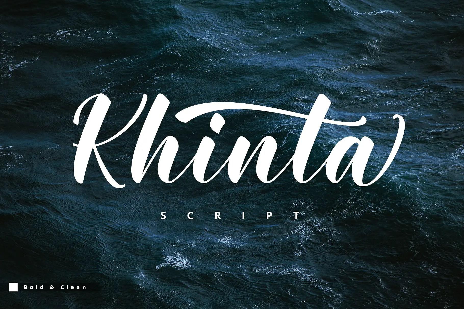 khinta-script-font