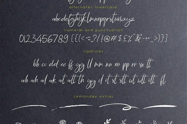 lemonday-script-font-1