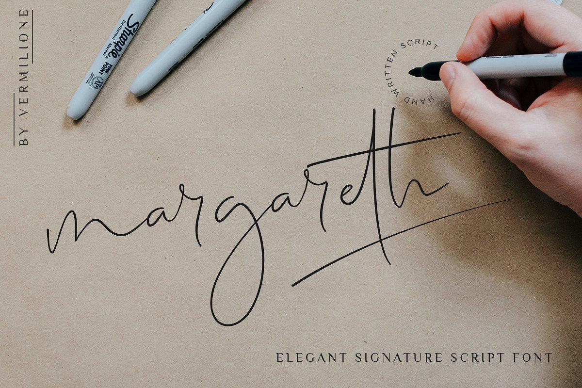 margareth-signature-font