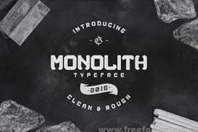 Monolith Typeface Free