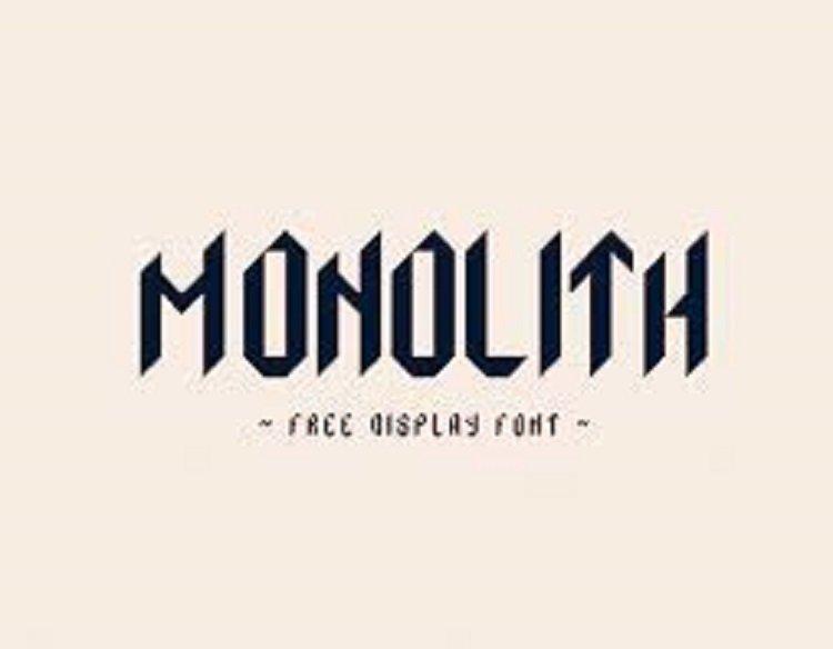 Monolith Typeface Free1
