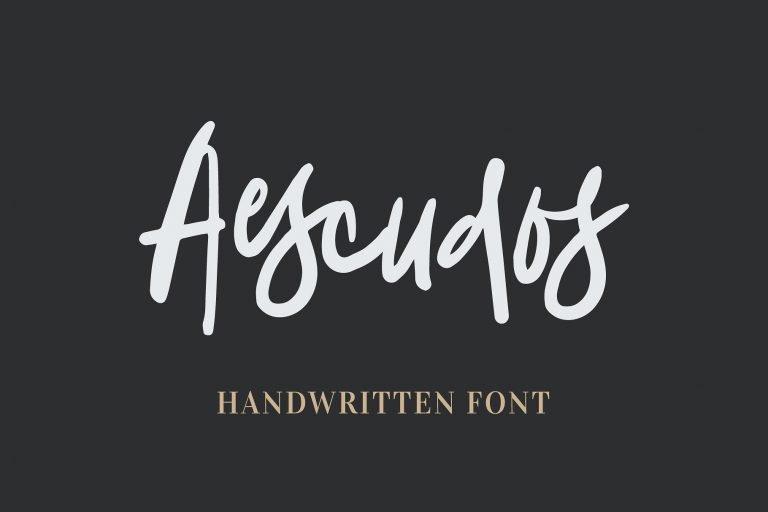 aescudos-handwritten-font-768x512