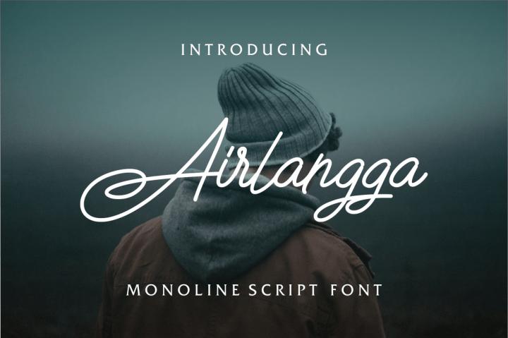 airlangga-script-font