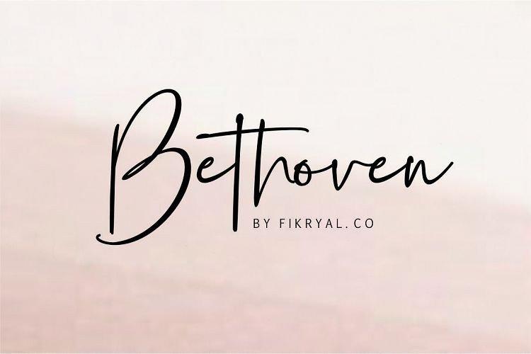 bethoven-handwritten-font