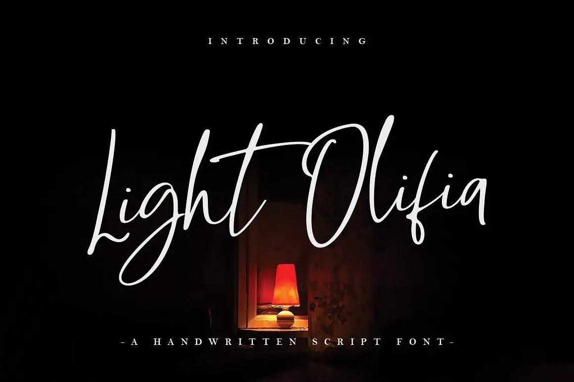 light-olifia-script-font