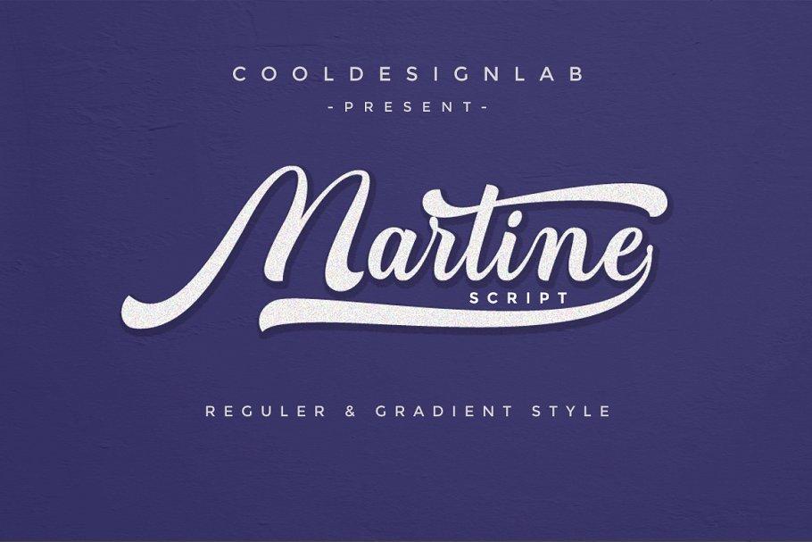 martine-script-font