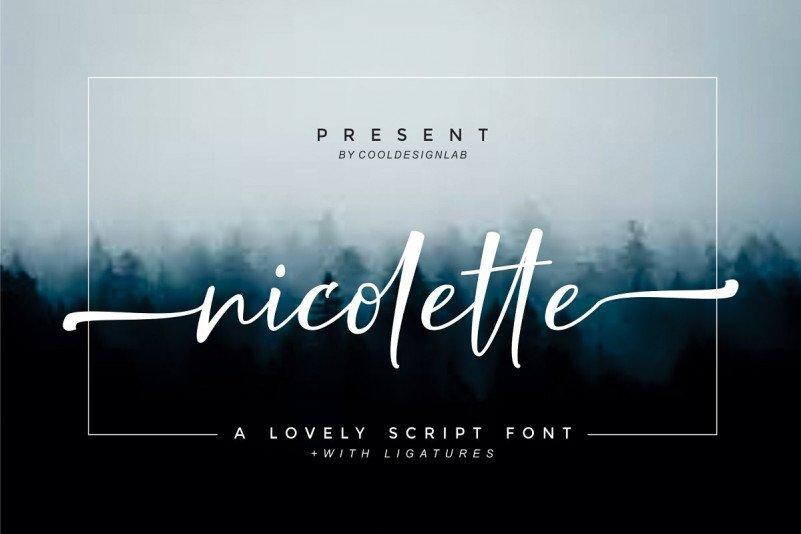 nicolette-script-font