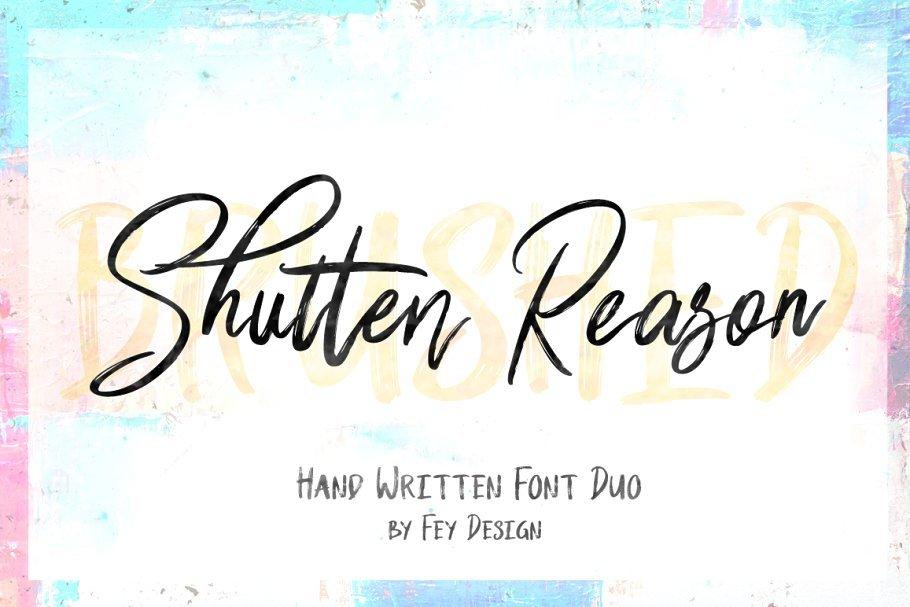 shutten-reason-font-duo