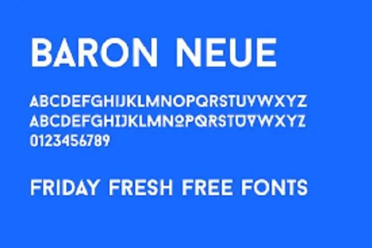 Baron Neue Typefamily Free 1