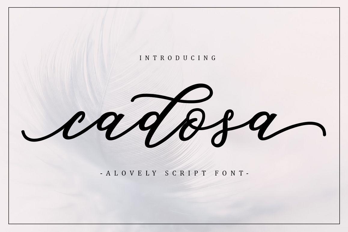 Cadosa Script Font Free