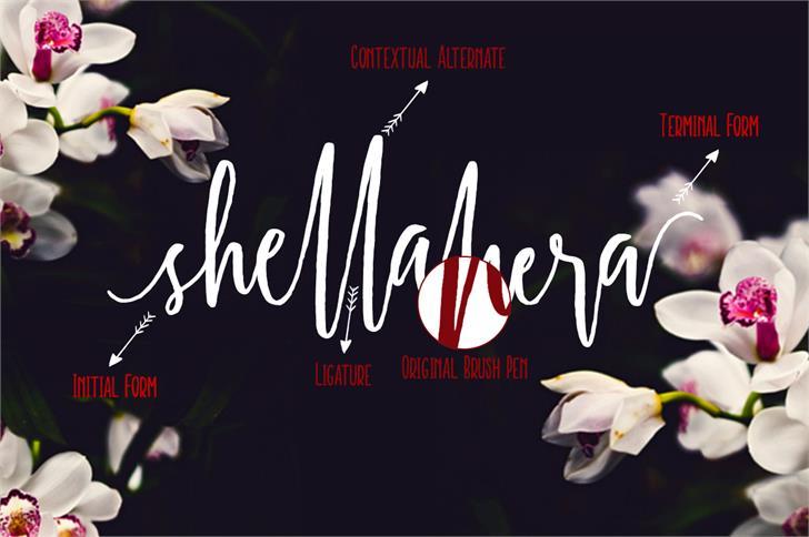 Shellahera Script font 1