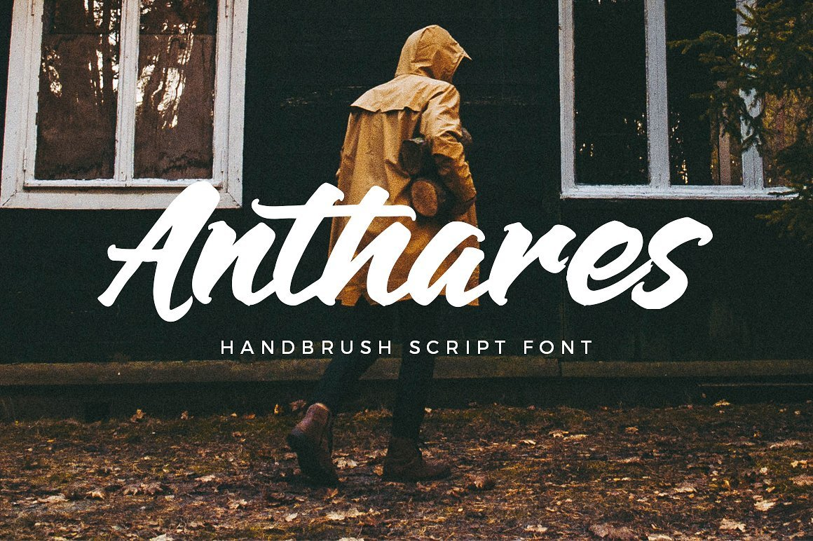 anthares-handbrush-font