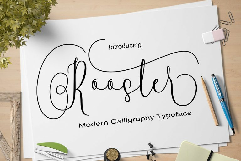rooster-script-font-768x512