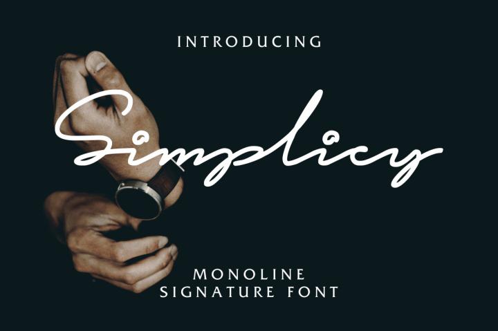 simplicy-signature-font