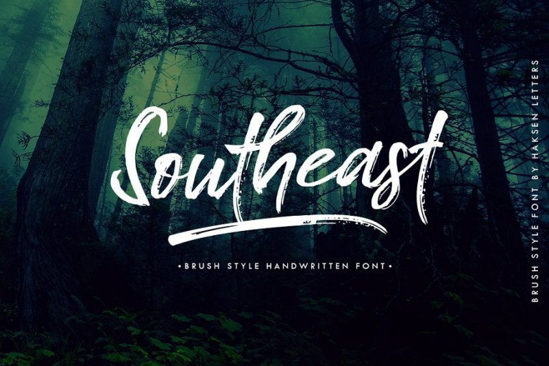 southeast-brush-font