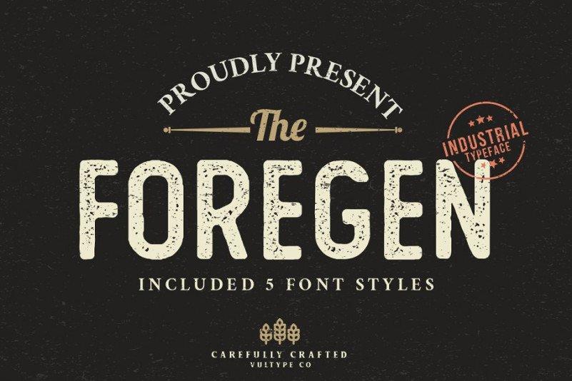 the-foregen-vintage-font