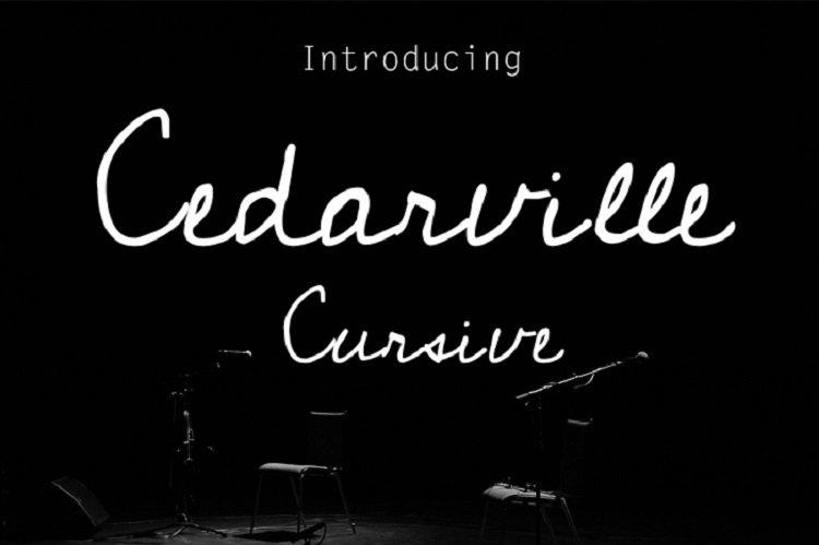 Cedarville Cursive Font