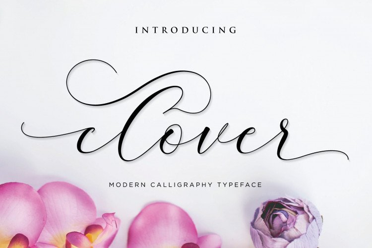 clover-calligraphy-font